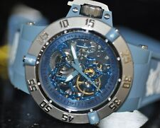Женские редкие Invicta Subaqua механический синий скелетный циферблат синий Поли часы 17131