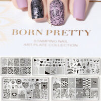 Born Pretty Nail Art Stamping Plates Valentine's Day Rose Love Image Manicure