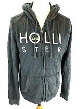 HOLLISTER Mens Hoodie Jacket M Medium Grey Cotton