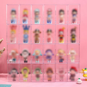 Clear Display Box Plastic Storage Organizer Case Toys Doll Protection Collection