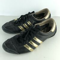 Adidas Originals adiTrack Black Gold Low Top Running Shoes G50018 US8 SH4