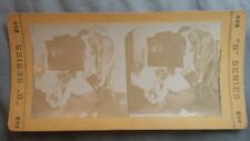 """Antique Stereoview Card """"B"""" SERIES No. 3014 """"Where's The Rat? Humor/Funny"""