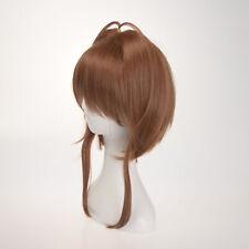 Card Captor Sakura Kinomoto Cosplay Wig Short Light Brown Party Hair Full Wigs