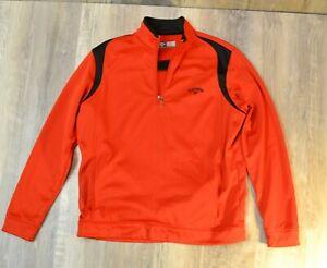 CALLAWAY Golf Opti Series Fleece Men 1/4 Zip Pullover Warm Jacket Sweater M