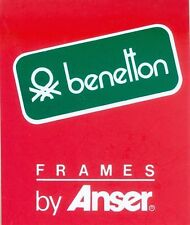 Benetton Frames by Anser - Adesivo Vintage - Sticker - Autocollant - Decal