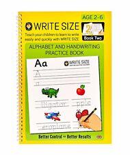 Write Size Alphabet & Handwriting Practice Pad - Book 2