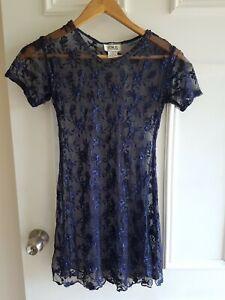 Vintage 80s  Lace Dress Size 8