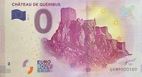 BILLET 0  EURO  CHATEAU DE QUERIBUS  FRANCE  2017  NUMERO 100