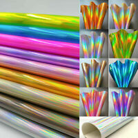 Glossy PU Leather Fabric Holographic Laser Fabric DIY Bag Cover Sewing Craft