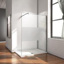 120x200cm Paroi de douche italienne fixe Verre dépoli anticalcaire Barre