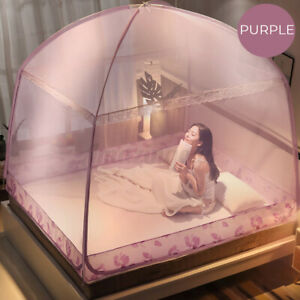 Folding Freestand Bed Canopy Mosquito Net Tent Screen For King Queen Bed 1.8×2M