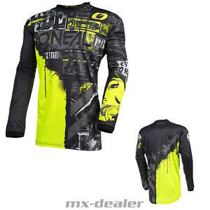 2021 O'Neal Élément Jersey Ride Noir Fuo Tricot MX Dh MTB BMX Motocross Quad