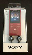 SONY NW-E393 Walkman DIgital MP3 Player W/ FM Radio 4GB RED New in Box