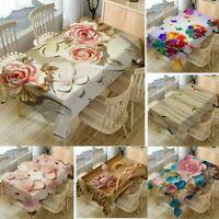 Home Decor Tablecloth ORIGINALITY 3D Flower Rectangular Tea Table Cover 140x80cm