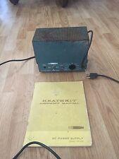 Heathkit Ham Radio Power Supply HP-23-A For Ham Radio + Assembly Manual