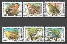 Pájaros Camboya (68) serie completo de 6 sellos matasellados