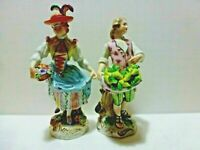 "CARL THIEME DRESDEN ANTIQUE PAIR OF  PORCELAIN FIGURINE  6"" h"