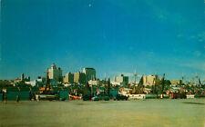 Postcard Skyline of Corpus Christi, Texas from T-head - circa 1950s