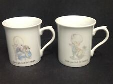 precious moments cups/mugs thank god for grandpa and grandma set