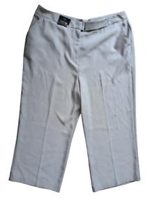 """F&F Grey UK Size 20 Cropped Wide Trousers 42"""" Waist  Inside Leg 24"""" BNWT"""
