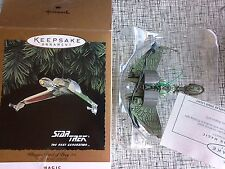 2 Hallmark Ornament Star Trek TNG Next Generation 1995 Warbird & Klingon bird