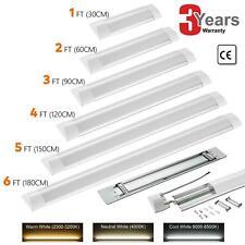 LED Batten Tube Light 4FT 5FT 6FT Linear Slimline Panel Ceiling Lights Wall Lamp