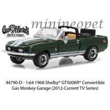 GREENLIGHT 44790 D GAS MONKEY GARAGE 1968 SHELBY GT 500KR CONVERTIBLE 1/64 GREEN