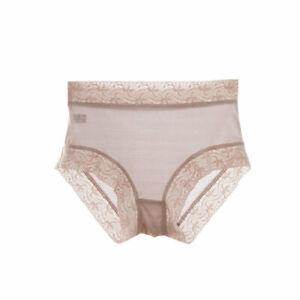 New Women Silk Knickers Seamless Panties Briefs Mid Rise Underwear Lace TG1S014
