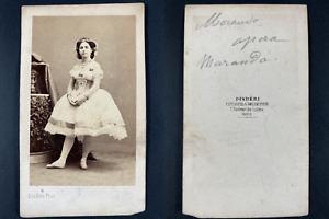 Disdéri, Paris, Morando, Opéra Vintage cdv albumen print Tirage albu