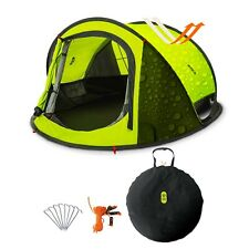Pop Up Tent 2 Persons Family Camping Tent 3 Seconds Automatic Open Waterproof A+