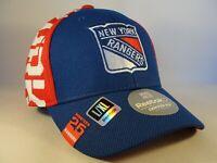 New York Rangers NHL Reebok Flex Hat Cap Size L/XL Blue Red