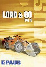 Prospekt 2002 Paus PFL 8 Underground Loader Radlader Bergbau Tunnelbau