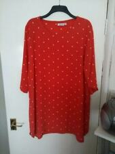 Masai Dress. Red with White Polka Dots. Size M