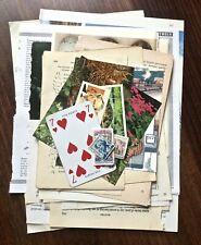 30pc Vintage Paper Pages Pack Books Ephemera Scrapbook Junk Journal Collage