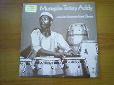 MUSTAPHA TETTEY ADDY Master drummer from Ghana UK LP TANGENT 1972