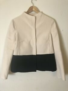MAX MARA Weekend Size 8 Wool Jacket Shell Pink Black