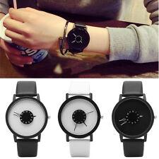 Casual Men Couple Simple Women Watches Faux Leather Band Quartz Wrist Watch