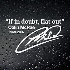 Colin McRae If In Doubt Flat Out Sticker - Drift Motorsport Rally Subaru WRX STi