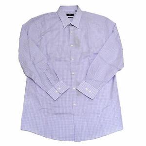 Hugo Boss Mens Buttondown Dress Shirt Sharp Fit Purple Stripes 17 32/33 New Nwt