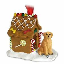 Golden Retriever Dog Gingerbread Ginger Bread House Christmas Ornament