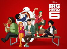 "004 Big Hero 6 - 2014 American Hot Movie Film 19""x14"" Poster"