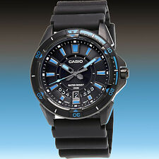 Casio Mens Resin 100M Diver Sports Date Display Rotary Bezel Watch MTD-1066B-1A1