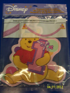 RARE Winnie the Pooh 1st Birthday Girl Party Decoration Honeycomb Streamer *