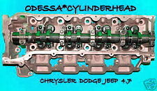 CHRYSLER DODGE JEEP CHEROKEE DAKOTA 4.7 SOHC CYLINDER HEAD DRIVER SIDE WITH EGR