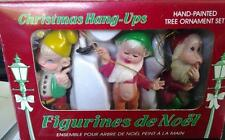Christmas Hang Ups Hand Painted Tree Ornament Set of 3 Figurines De Noel French