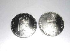Coin cufflinks-Swedish 1 Krone cufflinks-domed-handmade in the USA