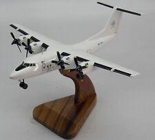 De Havilland DHC-7 Berjaya Air DHC7 Airplane Desk Wood Model Small New