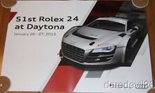 2013 Audi Racing R8 GT Rolex 24 Dated Race Day Promo Grand Am Poster