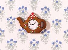 Wall Clock Teapot Shape, Dolls House Miniatures, 1:12th Scale