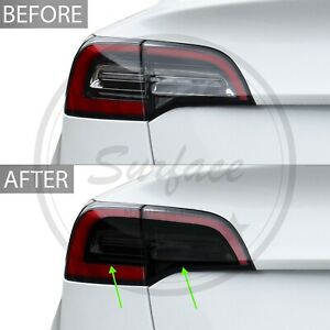 Fits Tesla Model 3 Tail Light Precut Smoke Vinyl Tint Film Cover Overlay